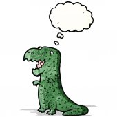 Cartone animato stegosauro — Vettoriale Stock