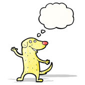Perro de dibujos animados felices con globo — Vettoriale Stock