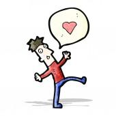 卡通恋爱中的男人 — 图库矢量图片