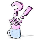Cartoon jellyfish in cup — Stock Vector