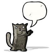 Black cat cartoon — Cтоковый вектор