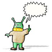 Cartoon alien spaceman — Stock Vector