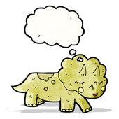 Cartoon triceratops — Stock Vector