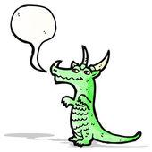 Dragón de dibujos animados — Vector de stock
