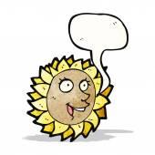 Cartoon talking sunflower — Stock Vector