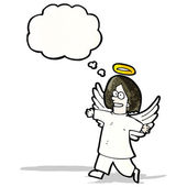 Caricatura anjo — Vetor de Stock