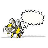 мультфильм жира пчела — Cтоковый вектор
