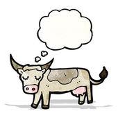 Mucca fumetto — Vettoriale Stock