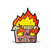 Flaming house — Stock Vector