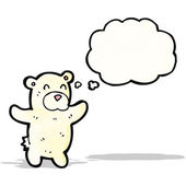 Cartoon polar bear teddy — Stock Vector