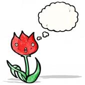 Tulipán de dibujos animados — Vector de stock
