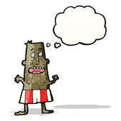 Cartoon man in underpants — Stock Vector