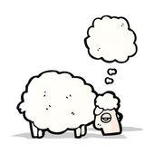 Cartone animato pecore — Vettoriale Stock