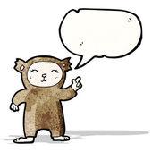Fantasia de urso dos desenhos animados — Vetor de Stock