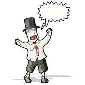 Crazy cartoon tramp — Stock Vector