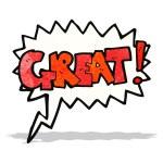 Great cartoon comic book shout — Stock Vector #54102203