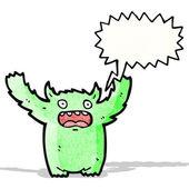 Cartoon monster roaring — Stock Vector