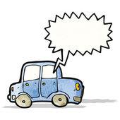 Cartoon car with speech bubble — Stock Vector