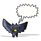 мультфильм хэллоуин bat — Cтоковый вектор