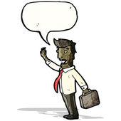 Cartoon businessman calling out — Stock Vector