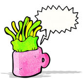 マグカップの漫画でクラ ゲ — ストックベクタ