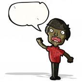 Hombre de dibujos animados hablando — Vector de stock