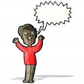 Cartoon shrieking man — Stock Vector