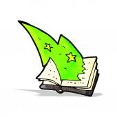 Cartoon magic spell book — Stock Vector