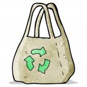 Reusable bag cartoon — Stockvektor