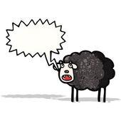 Kreskówka czarna owca — Wektor stockowy