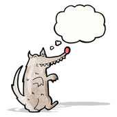 Cartoon wolf with thought bubble — Stock Vector