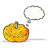 Dibujos animados de calabaza de halloween — Vector de stock