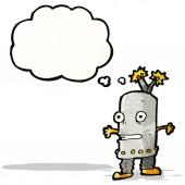 Cartoon little robot — Stock Vector