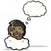Head in clouds cartoon — Vector de stock