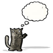 Cute cartoon black cat — Vettoriale Stock