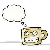 Cartoon grinning mug — Stock Vector