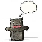 Gatto nero fumetto — Vettoriale Stock