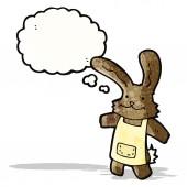 Cartoon rabbit with thought bubble — Stock vektor