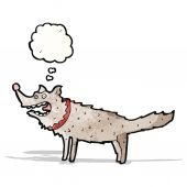Cartoon wolf — Stockvector