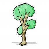 Cartoon tree — Cтоковый вектор