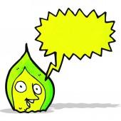 卡通绿色火焰 — 图库矢量图片