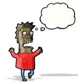 Cartoon doodsbang man — Stockvector