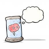 Cérebro dos desenhos animados em jar — Vetorial Stock
