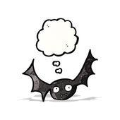 Halloween vleermuis cartoon — Stockvector