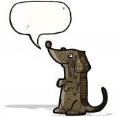 Cartoon dog with speech bubble — Stock Vector
