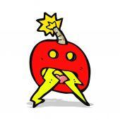 Crazy bomb symbol — Stock Vector