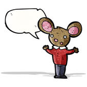Talking mouse in clothes cartoon — 图库矢量图片
