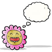 Cartoon flower face — Vector de stock