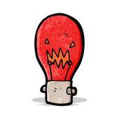 赤色光電球漫画 — ストックベクタ
