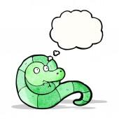 Dessin animé sympathique serpent — Vecteur